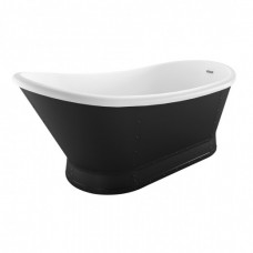 Florence Freestanding Acrylic Bath - Matt Black