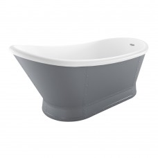 Florence Freestanding Acrylic Bath - Matt Grey