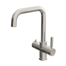 Chrome Contemporary Square Bend Instant Boiling Water Kitchen Tap