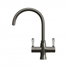 Brushed Gunmetal Grey | Victorian 3-in-1 Instant Boiling Water Kitchen Tap