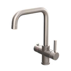 Brushed Nickel Contemporary Square Bend Instant Boiling Water Kitchen Tap