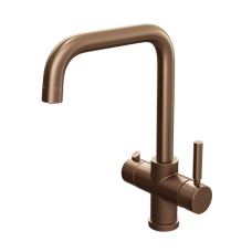 Brushed Copper Contemporary Instant Boiling Water Kitchen Tap