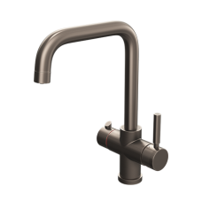 Brushed Gunmetal Contemporary Square Bend Instant Boiling Water Kitchen Tap