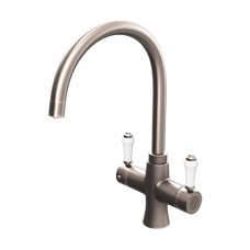 Brushed Gunmetal Traditional Square Bend Instant Boiling Water Kitchen Tap