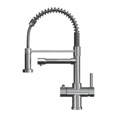 Polished Chrome | 3-in-1 Instant Boiling Water Kitchen Tap with Handheld Flexible Spout