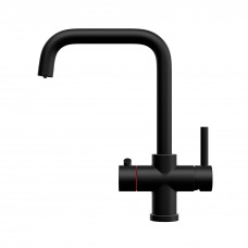 Matt Black Contemporary 3-in-1 Instant Boiling Water Kitchen Tap