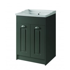Astley Floor Standing 2 Door Unit & Basin - Matt Grey - 600mm