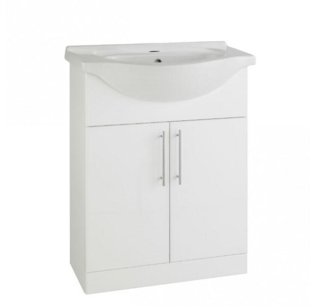 Impakt Cabinet with Basin - White - 650mm