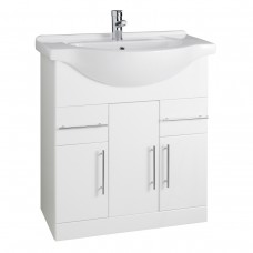 Impakt Cabinet with Basin - White - 750mm