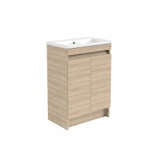 Ikon Oak 600 Floor Standing 2 Door Unit & Ceramic Basin