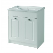 Astley Floor Standing 2 Door Unit & Basin - Matt White - 800mm