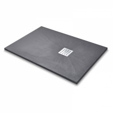 Slate Effect Rectangle Shower Tray - Graphite