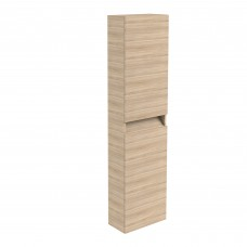 Ikon Oak Wall Mounted Tall Storage Unit - Left Hand