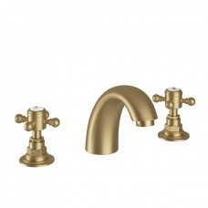 Victorian 3 Hole Basin Mixer Aged Brass