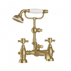 Harrogate Bath Shower Mixer With Cradle Aged Brass