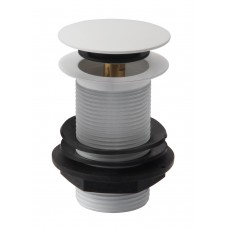 Unslotted Sprung Plug Basin Waste - Matt  White