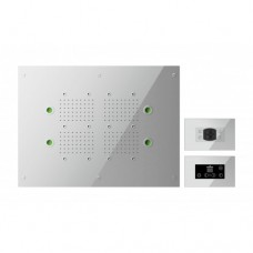 Spa Chromatherapy and Aromatherapy Shower Head Inc Wall Mounted Touch Screen Control