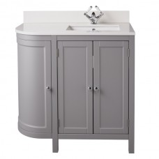 Holborn Curved 900mm Traditional Floor-Standing Vanity Unit
