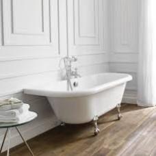 Kildwick Bath With Chrome Ball Feet