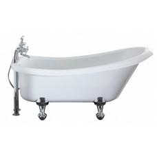 Diana - 1500 x 750 Slipper  Freestanding Bath inc. Ball & Claw Foot Set