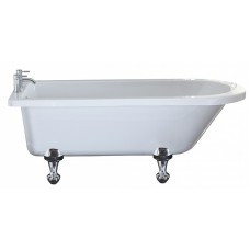 Eros - 1700 x 750 Single Ended Freestanding Bath inc. Ball & Claw Foot Set