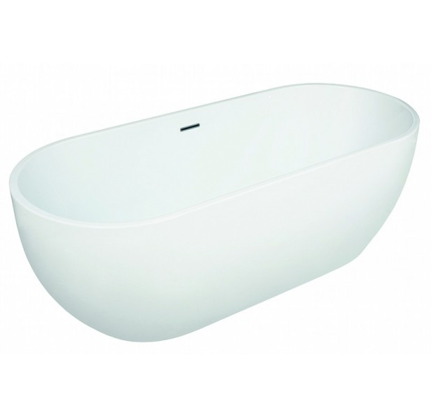 Apollo - 1650mm x 700mm Modern Twin Skinned Freestanding Double Ended Bath