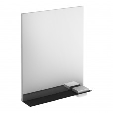 Structure Mirror With Black Shelf, including storage cases and light