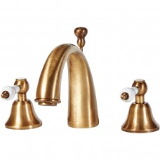 Holborn Gold 3TH Basin Mixer With Pop-up Waste