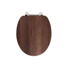 Holborn Wooden Soft-Close Toilet Seat - Dark Walnut
