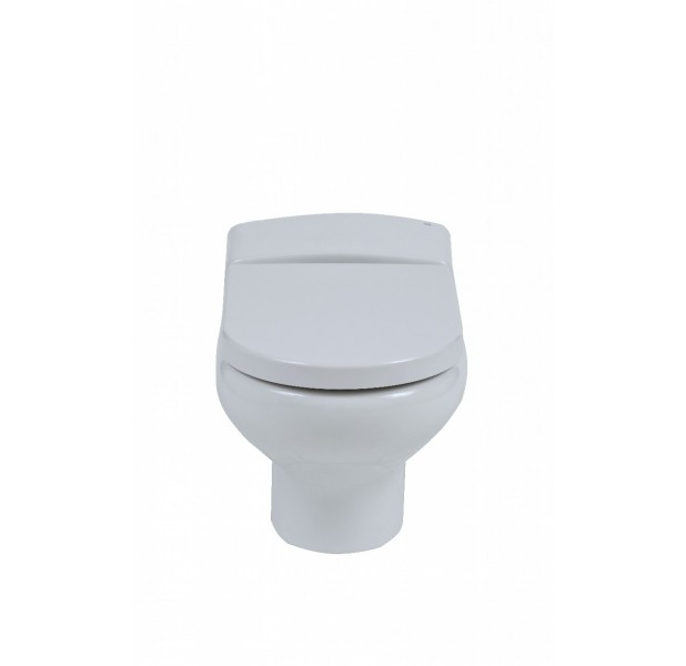 Compact Wall Hung Toilet Including Standard Seat