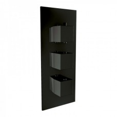 Matt Black Triple Concealed Shower Valve