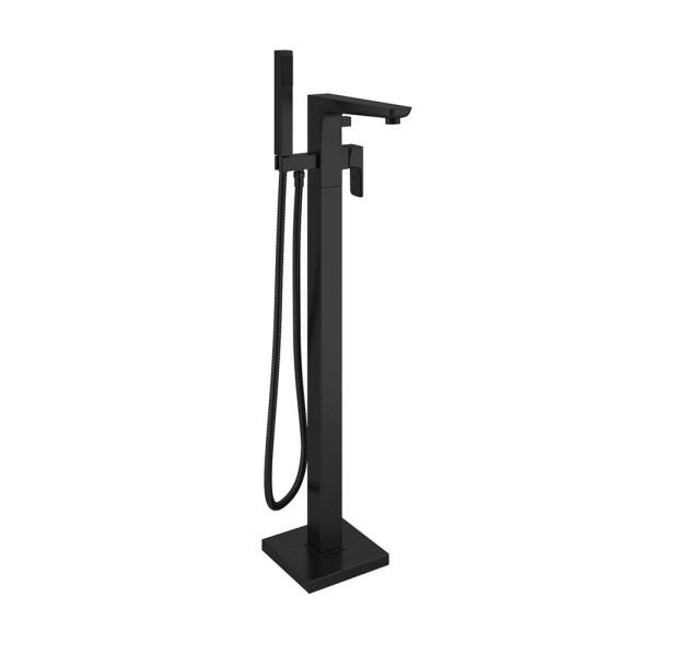 Matte Black Freestanding Bath Shower Mixer